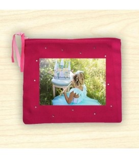 Pochette Photo avec strass brillants Format 17x20 cm