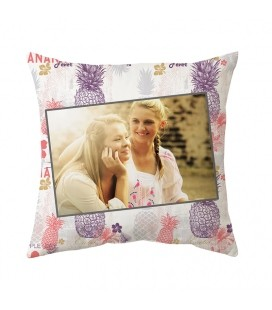 Coussin personnalisable 3 tailles Décor ANANAS FEVER