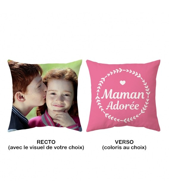 Coussin 40x40 cm personnalisable MAMAN ADOREE