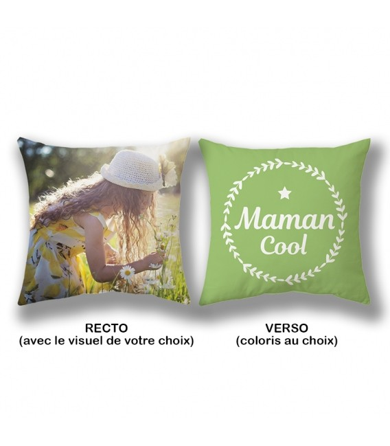 Coussin 40x40 cm personnalisable MAMAN COOL
