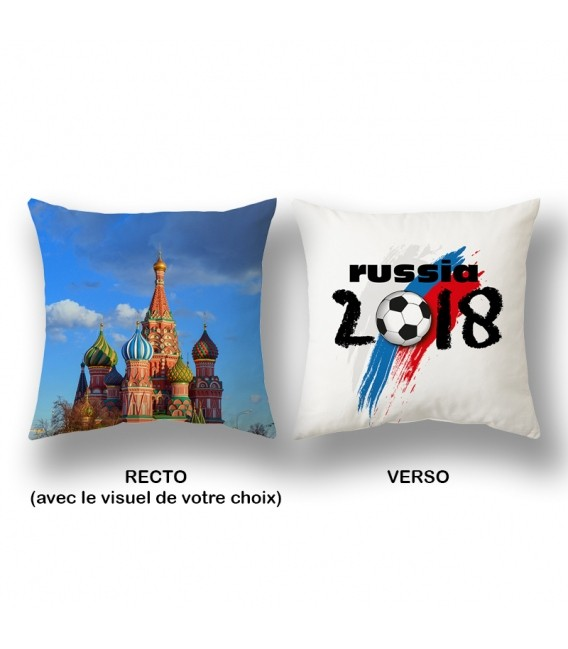 Coussin personnalisable 3 tailles RUSSIE 2018