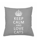Coussin KEEP CALM and LOVE CATS