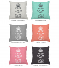 Coussin personnalisable KEEP CALM and LOVE CATS