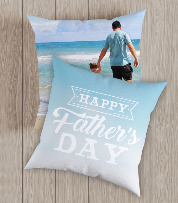Coussin personnalisé Happy Father's Day